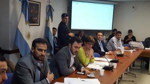 Diego Migliorisi y Marcelo Romero en exponen en la Comisión de legislación penal de diputados